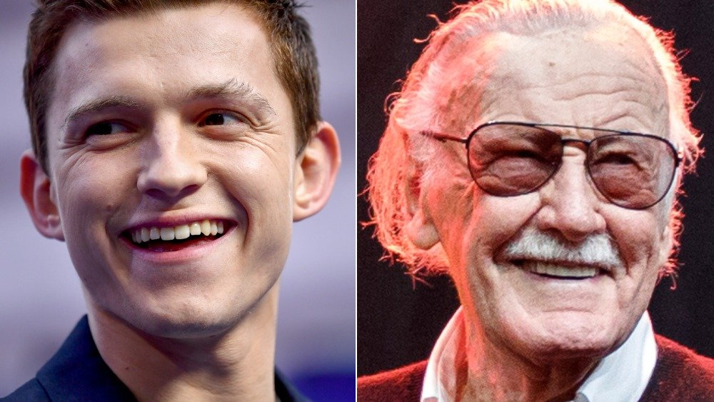 Tom Holland and Stan Lee