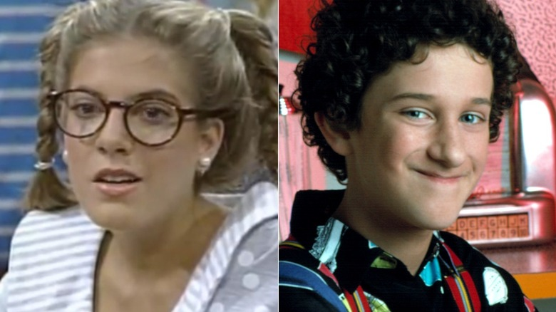 Violet and Screech on Saved by the Bell