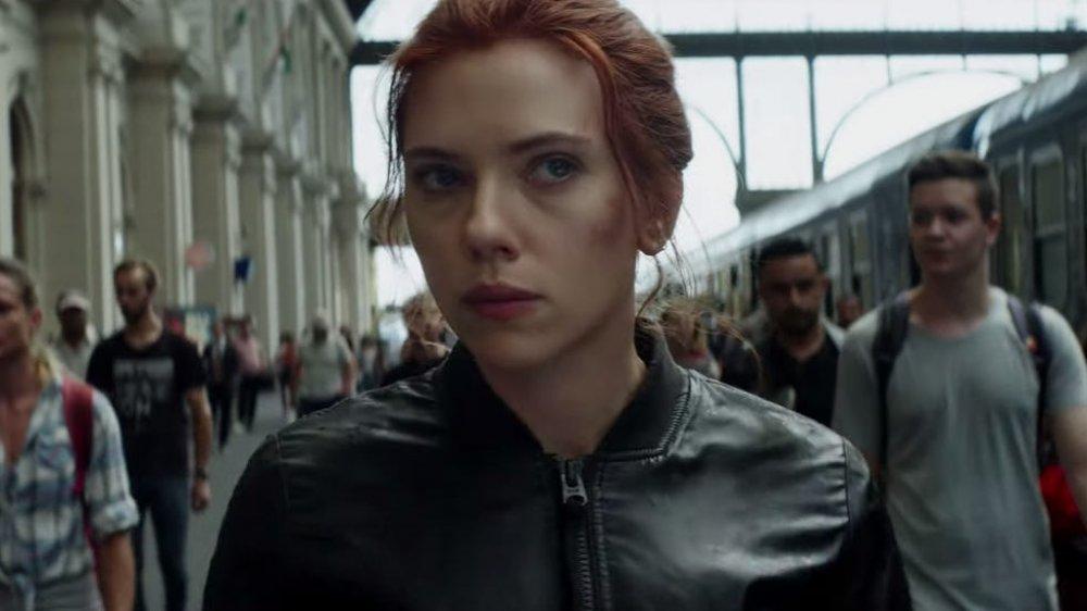 Scarlett Johansson as Natasha Romanova in the trailer for Black Widow