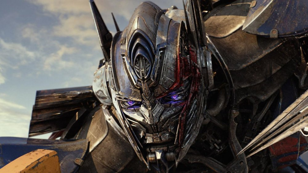 Optimus Prime, battered and bruised