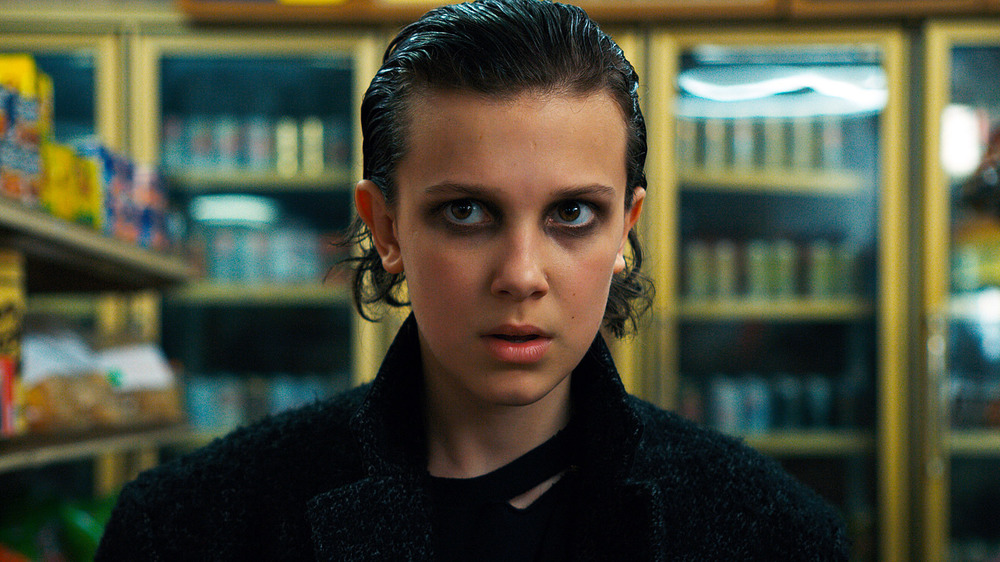 Eleven dressed as punk