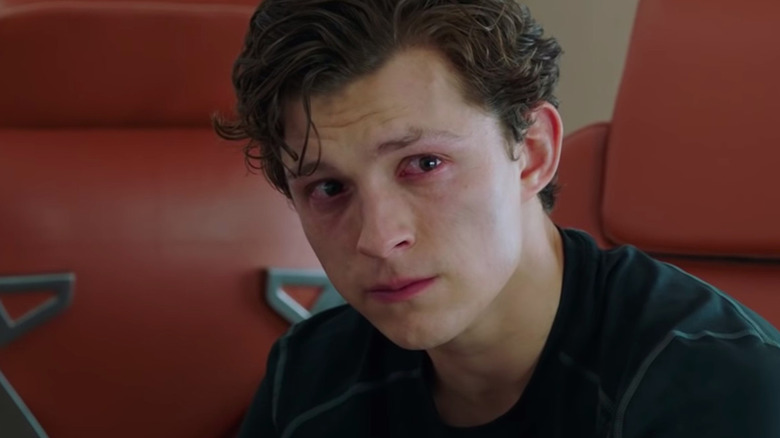 Tom Holland Spider-Man Far From Home Peter Parker crying