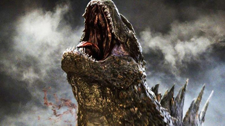 Godzilla roaring