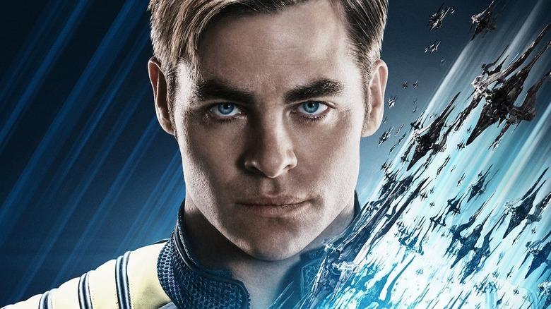 Chris Pine as Captain Kirk in Star Trek