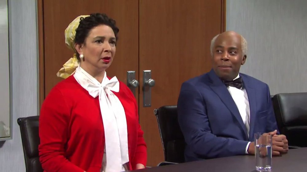 Maya Rudolph as Aunt Jemima and Kenan Thompson as Uncle Ben on SNL