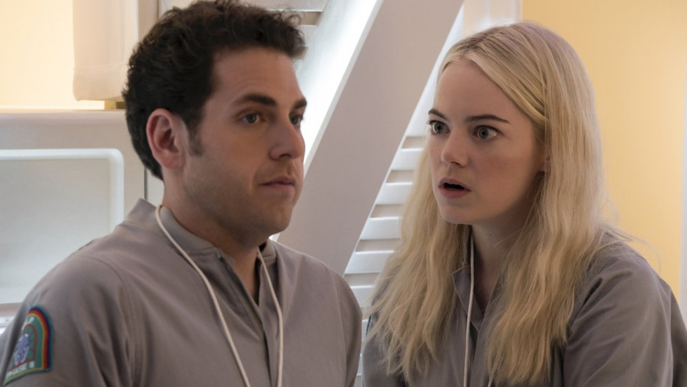 Jonah Hill and Emma Stone in Maniac