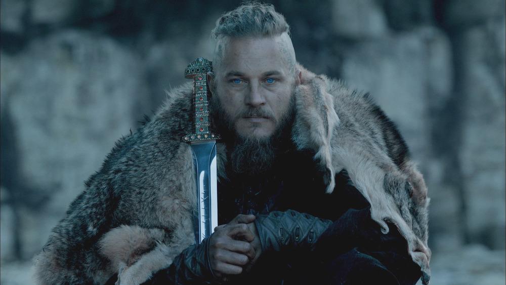 Ragnar holds a sword
