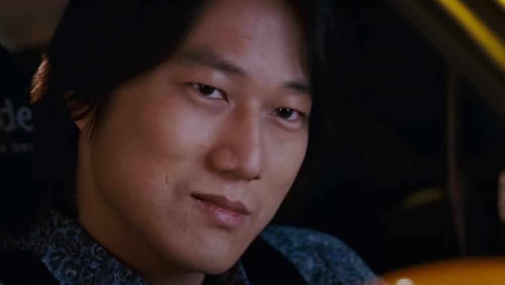 Han Lue looking mischievous