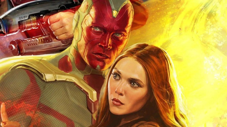 Vision and Scarlet Witch Avengers Infinity War San Diego Comic-Con banner