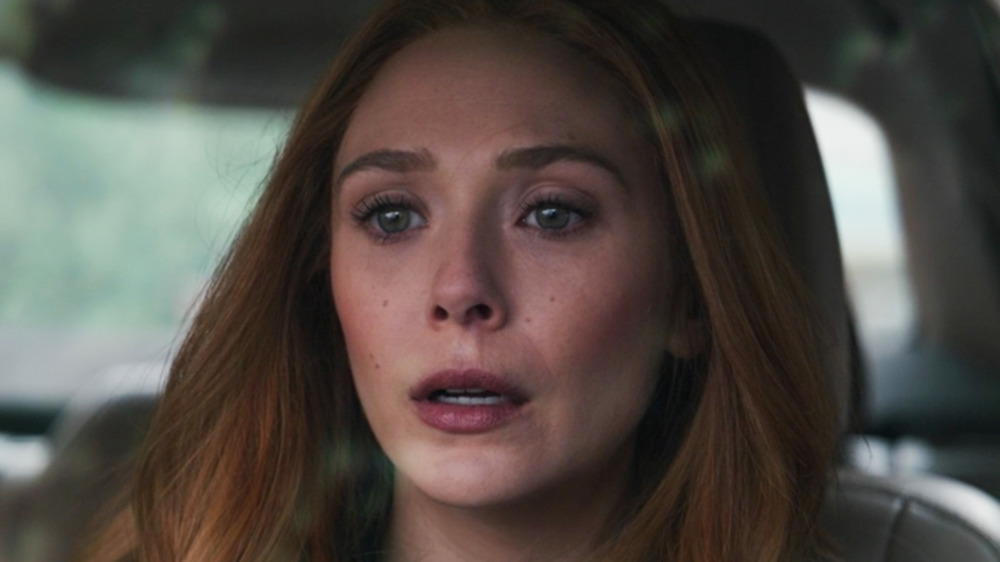 Wanda upset in the car WandaVision episode 8