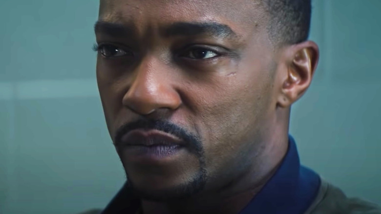 Falcon and Winter Soldier Anthony Mackie staring contest