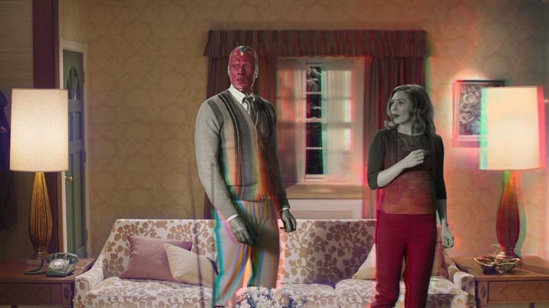 Wanda and Vision are shocked on WandaVision