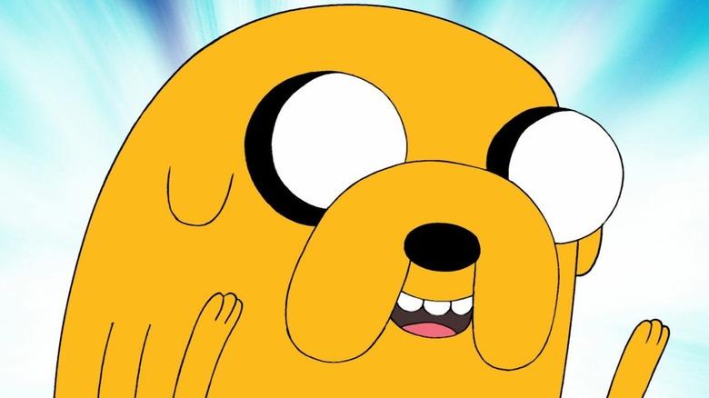 Jake the dog smiling