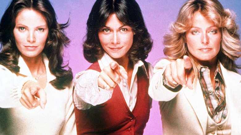 Jaclyn Smith, Kate Jackson, and Farrah Fawcett in Charlie's Angles promo