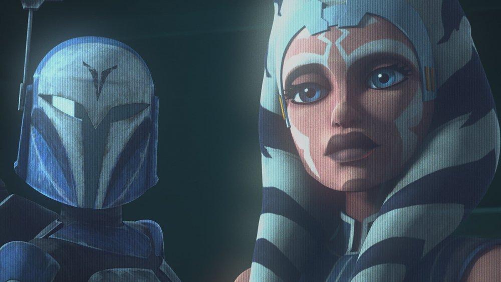 Bo-Katan Kryze and Ahsoka Tano on The Clone Wars: The Final Season