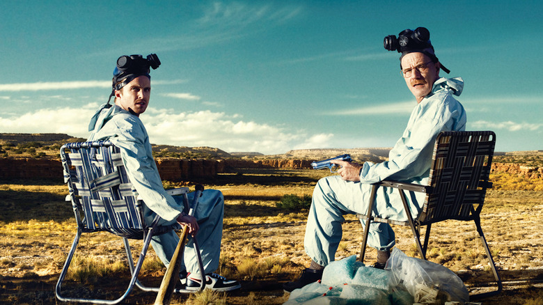 Aaron Paul and Bryan Cranston in Breaking Bad promo art