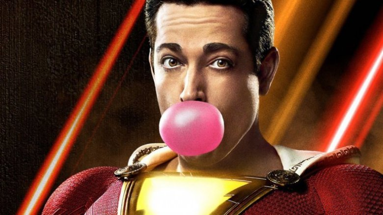 Zachary Levi Shazam bubblegum