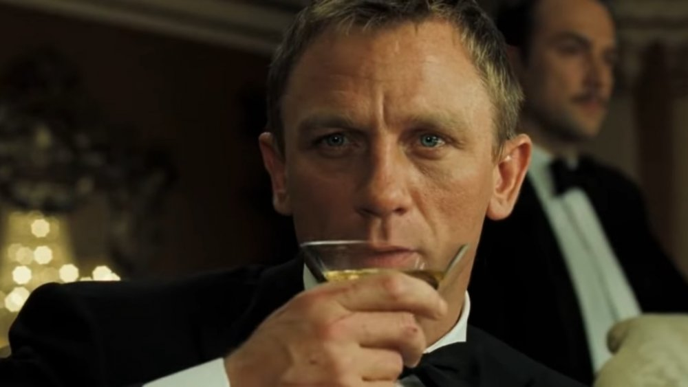Daniel Craig as James Bond indulging in a martini in Casino Royale