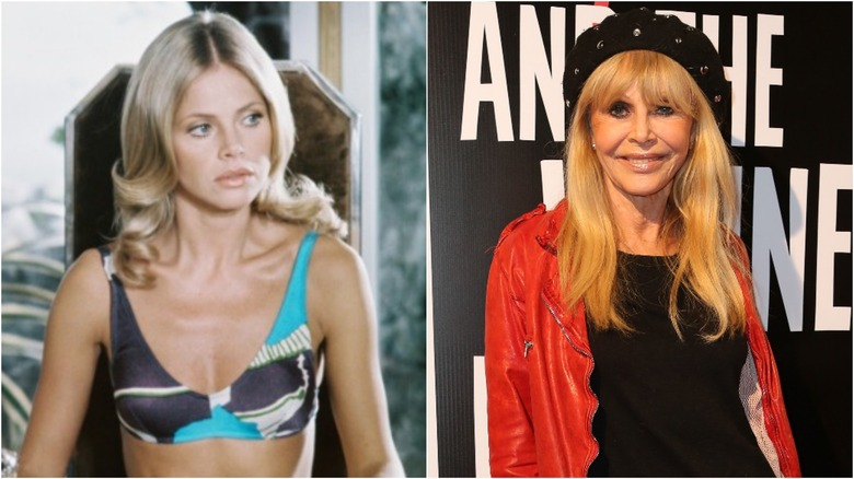 Britt Ekland then and now