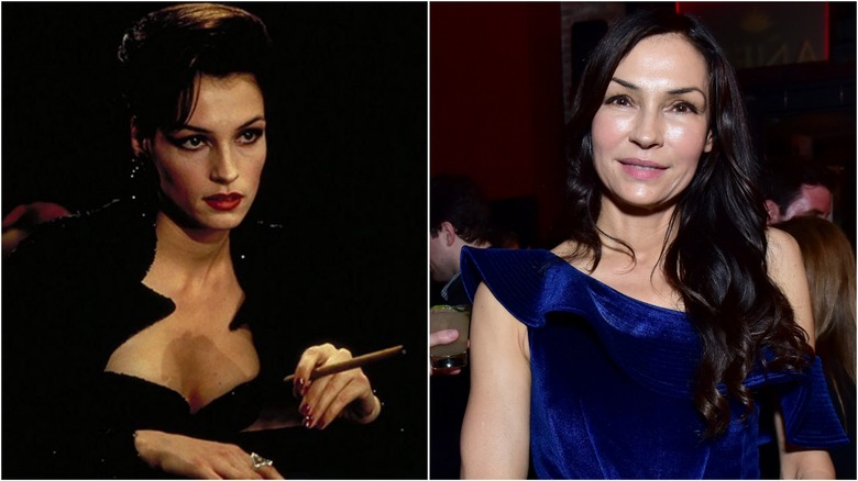 Famke Janssen then and now