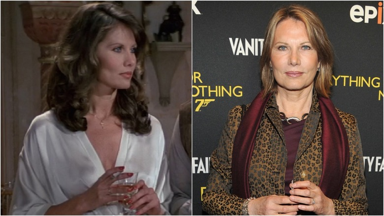 Maud Adams then and now with Britt Ekland and Jane Seymour