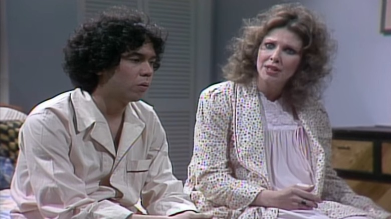 Gilbert Gottfried Ann Risley sitting SNL