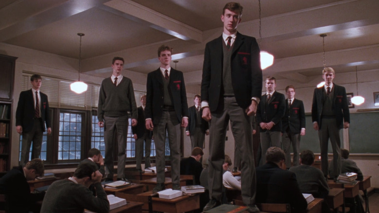 The students recite O Captain! My Captain! in Dead Poets Society