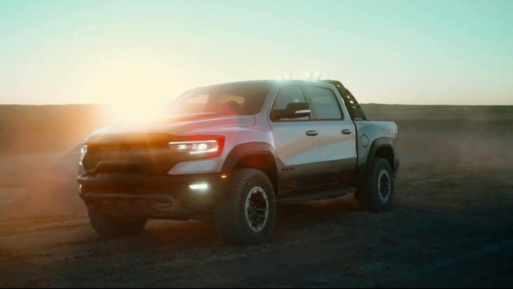 RAM TRX in the desert for Mr. Sandman commercial