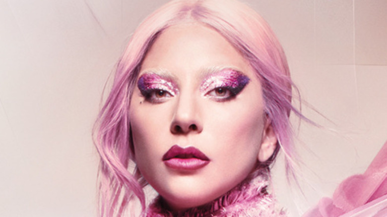 Lady Gaga with pink hair