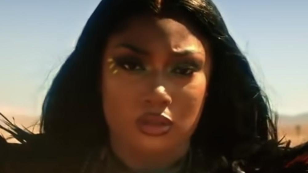 Megan Thee Stallion in Mad Max desert