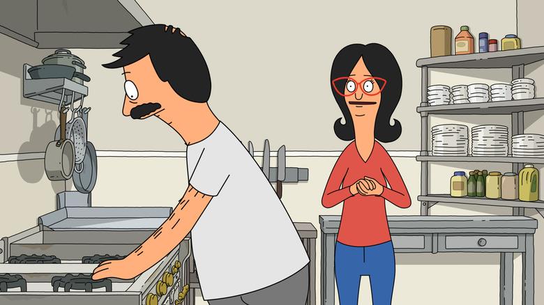 "Bob and Linda Belcher on the ""Copa-Bob-bana"" episode of Bob's Burgers"
