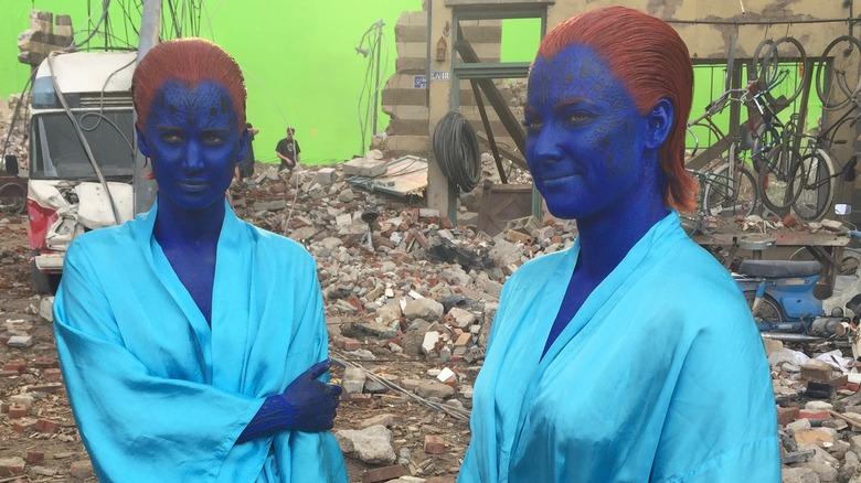 Renae Moneymaker and Jennifer Lawrence as Mystique