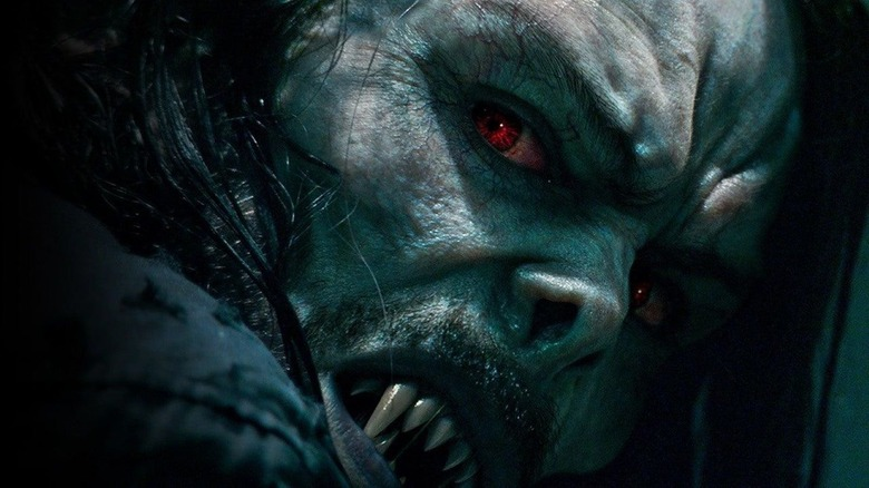 Morbius vampire red eyes
