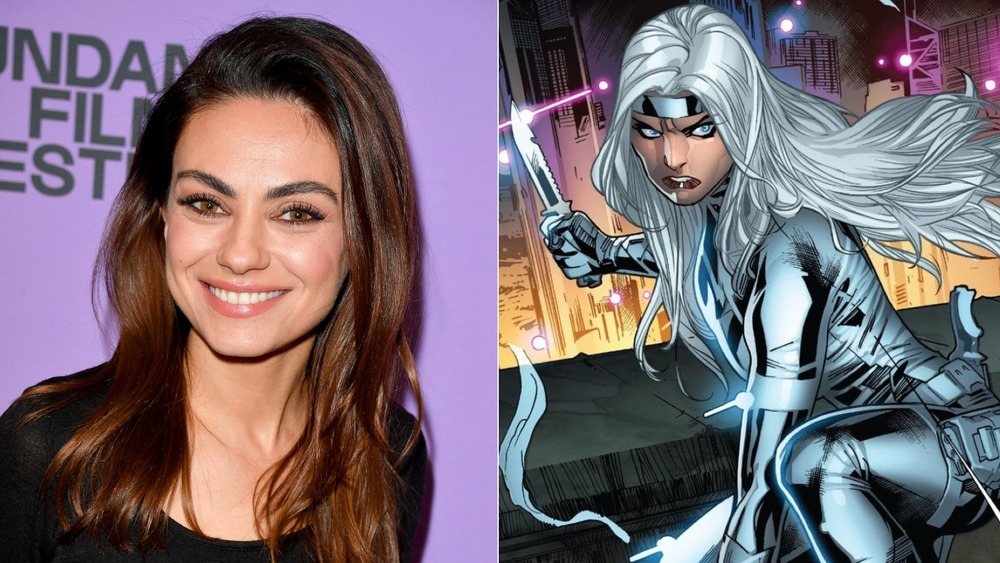 Mila Kunis smiling Silver Sable knife