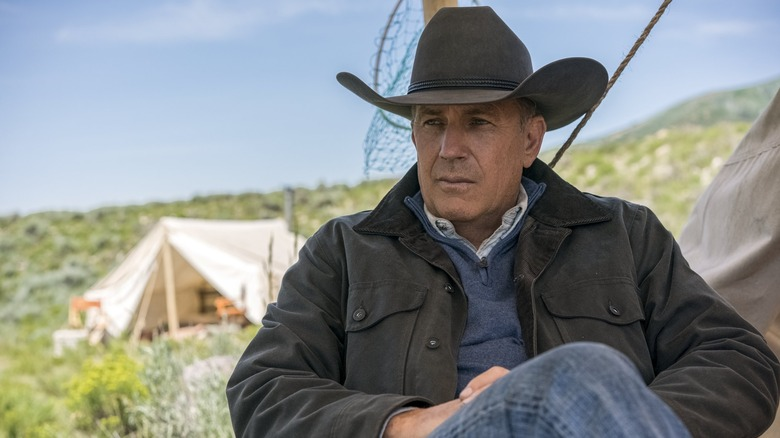 John Dutton (Kevin Costner) looks pensive on Yellowstone