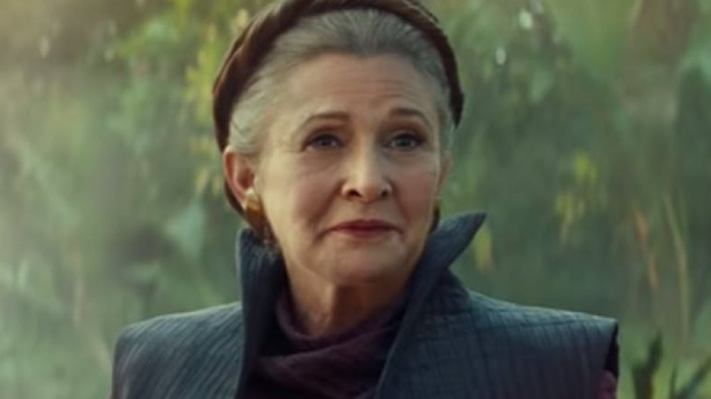 Carrie Fisher as General Leia in The Rise of Skywalker