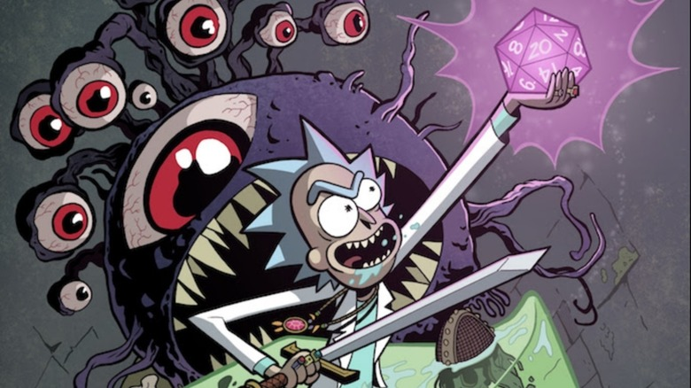 Rick and Morty vs Dungeons & Dragons comic cover