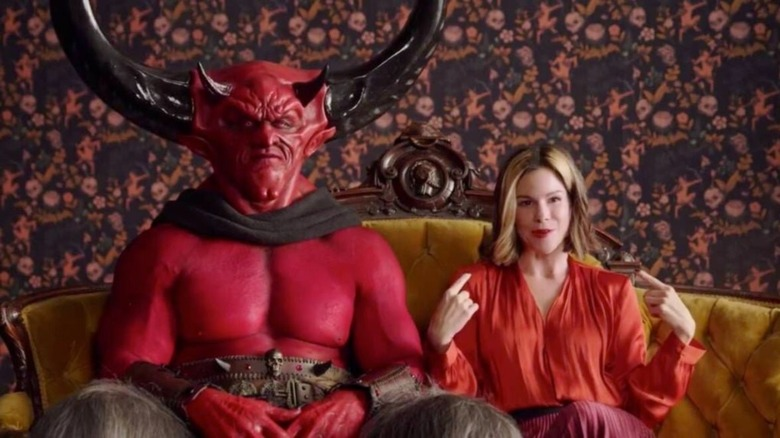 Satan and 2020 sit on couch in Match.com ad