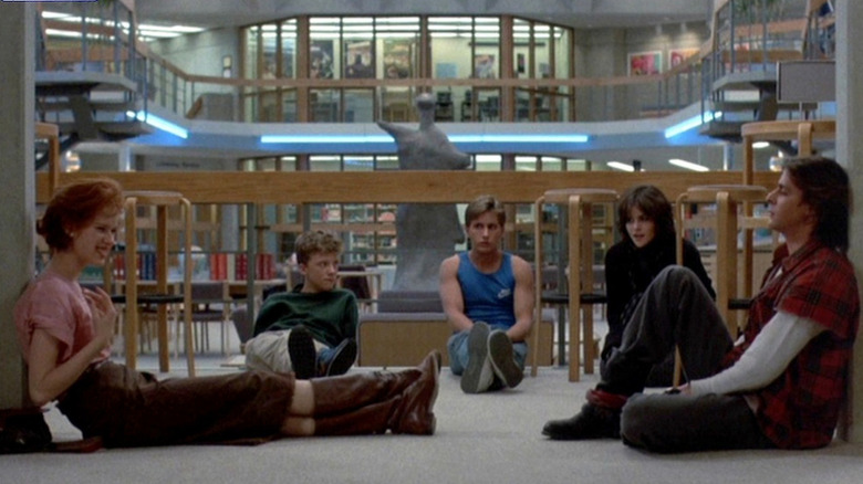 The cast of The Breakfast Club.
