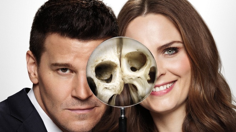 Emily Deschanel and David Boreanaz, Bones