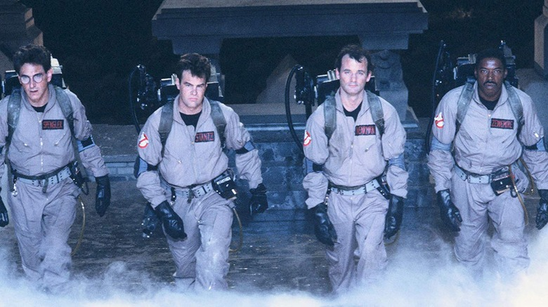 The cast of Ghostbusters