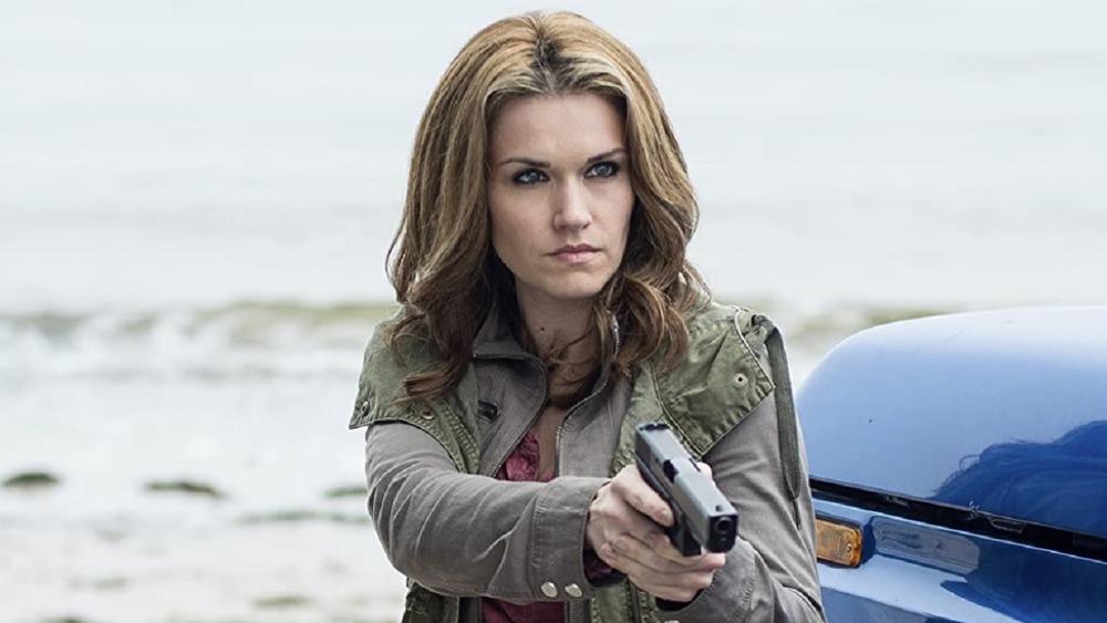 Haven Audrey Parker brandishing gun