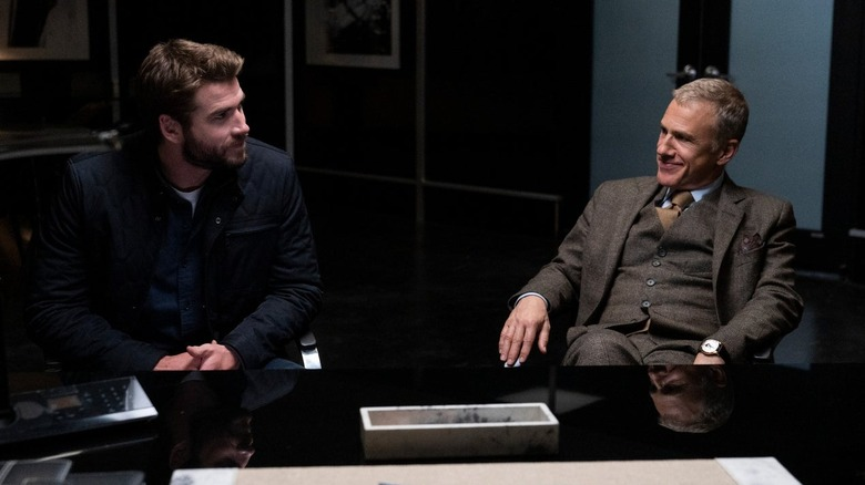 Liam Hemsworth and Christoph Waltz in Most Dangerous Game