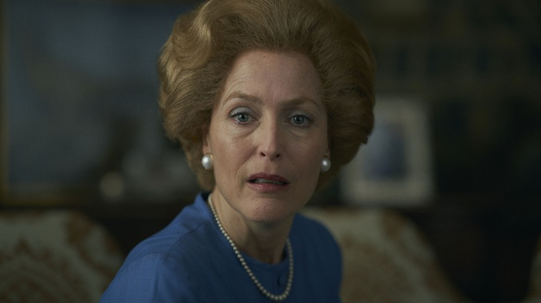 Gillian Anderson as Margaret Thatcher on The Crown
