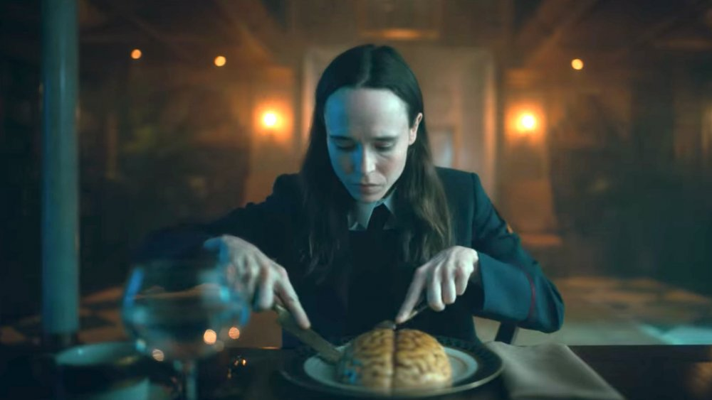 Ellen Page eating brains in The Umbrella Academy season 2