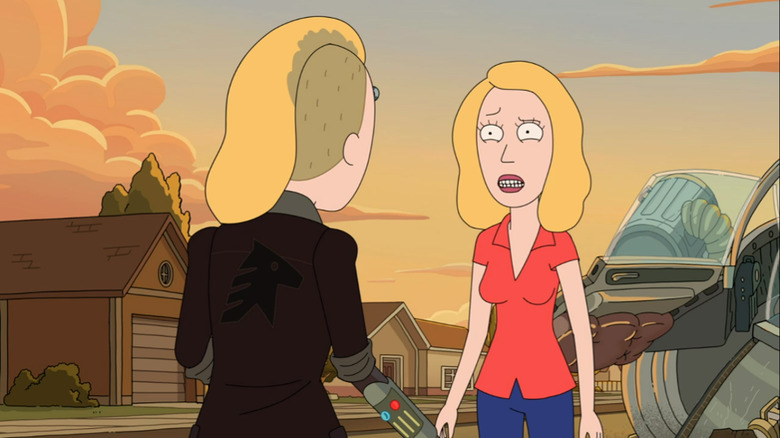 Beth confronts herself on the Rick and Morty season 4 finale
