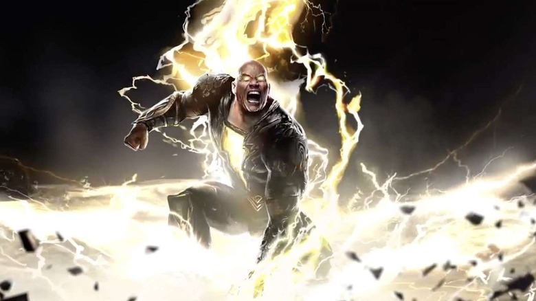 Concept art of Dwayne Johnson as Black Adam