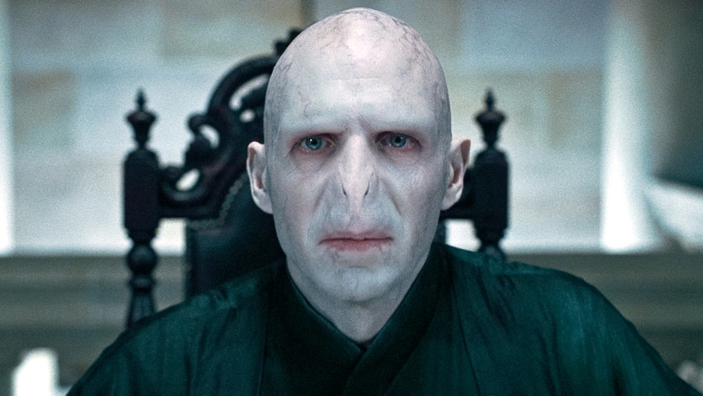 Voldemort on a black chair