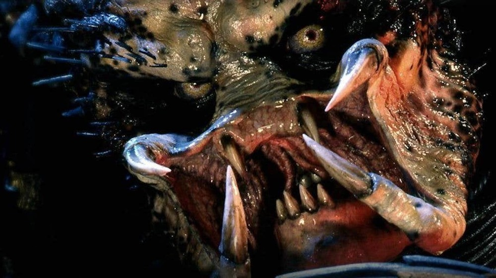 Extreme close-up of Kevin Peter Hall as the Predator