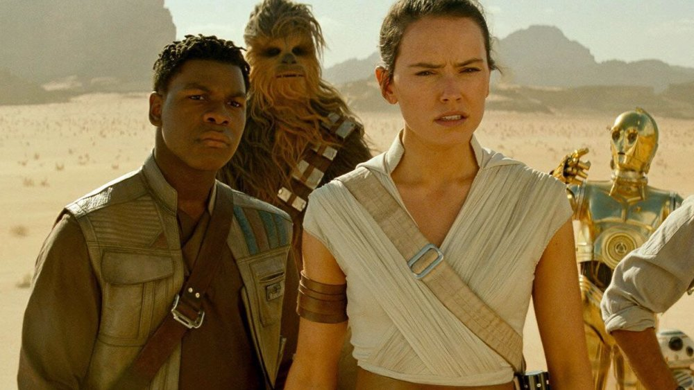Daisy Ridley and John Boyega as Rey and Finn in Star Wars: The Rise of Skywalker